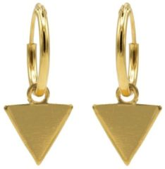 Karma Jewelry Karma Oorringen Hoops Triangle Goud