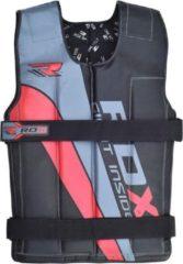 RDX Sports RDX R1 Gewichtsvest - Zwart / Rood - Verstelbaar van 10 tot 18 kg - Zwart - Kunstleer