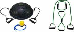 Groene Tunturi - Fitness Set - Balanstrainer - Balance Trainer & Tubbingset Medium Zwaar