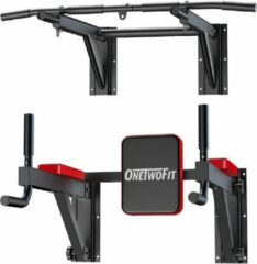Rode OneTwoFit Wandmontage Pull Up Bar Dip Station Multi Power Tower