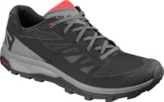 Rode Salomon Outline Wandelschoenen Heren - Black / Quiet Shade / High Risk Red
