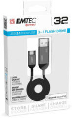 Emtec T750B USB flash drive 32 GB USB Type-A / Micro-USB 3.2 Gen 1 (3.1 Gen 1) Zwart, Grijs