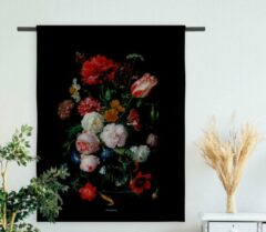 Zwarte Villa Madelief Wandkleed Bloemen (90 centimeter x 120 centimeter)