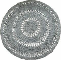 Woon by Moon Rond gehaakt vloerkleed - Taupe - Katoen - 101 cm