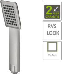 Roestvrijstalen Boss & Wessing BWS Handdouche Vierkant Los ABS RVS Look