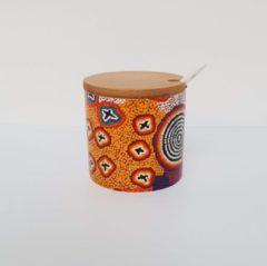 Paarse Alperstein Designs Design suikerpotje - Ruth Napaljarri Stewart - Aboriginal collectie