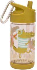 Groene SugarBooger Drinkfles Flip & Sip Ollie Gator