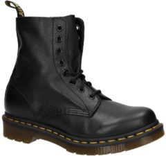 Dr. Martens Women's 1460 Pascal Virginia Leather 8-Eye Lace Up Boots - Black - UK 7 - Black