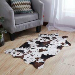 Merkloos / Sans marque Vloerkleed koe print -75x110 cm - Dierenvel Koeienvel Koeienhuid Vloerkleed tapijt Koe Patroon