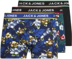Blauwe Jack & Jones JACK&JONES 3-Pack Boxershorts - Black - Maat XL