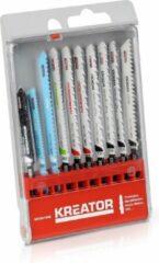 Kreator KRT041090 Set van decoupeerzaagbladen T-schacht – 10 stuks