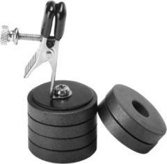 Zilveren Master Series Tepelklem met magneetgewichten van Onus