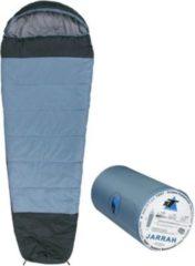 10-T Outdoor Equipment 10T Schlafsack Jarrah -16° warm weich 1800g leicht XXL Mumienschlafsack 230x85 Blau / Grau 300g/m²