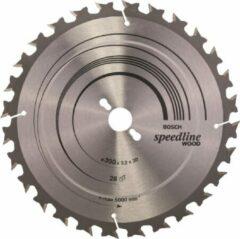 Cirkelzaagblad Standard for Wood Speed, 315 x 30 x 3,2 mm, 28 Bosch Accessories 2608640682 Diameter:315 mm Aantal tanden:28 Dikte:3.2 mm