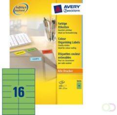 Etiket Avery Zweckform 3454 105x37mm groen 1600stuks