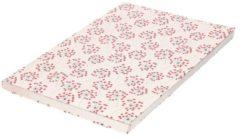 Bellatio Decorations 5x Kaftpapier bloemen met hartjes print 200 x 70 cm rollen - Boeken kaften - Kaft papier - Schoolspullen