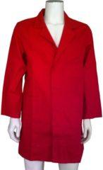 KM workwear Yoworkwear Stofjas 100% katoen rood maat XXL / 60-62