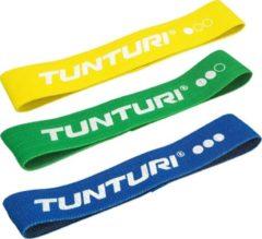 Blauwe Tunturi Weerstandsbandset textiel - resistance bands - 3 weerstanden