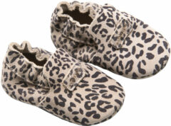 Mockies First Steps Babyschoentjes Leopard Grey Mt. S