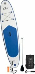 Blauwe Q4life ACTION Opblaasbaar SUP BOARD Starters Pack Stand Up Paddle Board