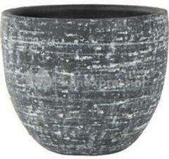 Antraciet-grijze Ter Steege Pot Karlijn antraciet bloempot binnen 18 cm