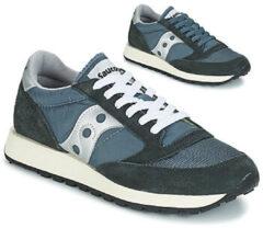 Marineblauwe Saucony Jazz Original Vintage Sneakers Heren - Blue Navy/Silver - Maat 44.5