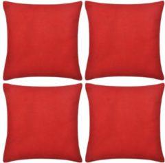 5 days Kussenhoezen katoen 80 x 80 cm rood 4 stuks