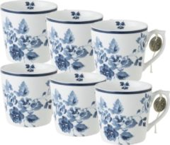 Blauwe Laura Ashley Minimokken China Rose (Set 6 stuks)