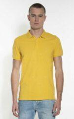 Gele Victim Heren Poloshirt Maat L