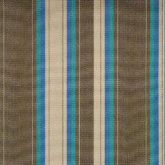 Agora Abaco River 3957 gestreept creme, bruin, blauw stof per meter, buitenstof, tuinkussens, palletkussens