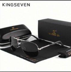 HomeGadget Kingseven Zwart Grijs -Gepolariseerd - Zonnebril Heren - Sunglasses - Zomertrend