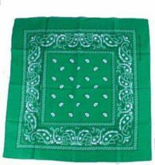 Meneer Zakdoek / bandana groen 54x54cm