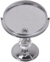 Gerard Brinard Gérard Brinard metalen spiegel diamant make up spiegel 10x vergroting - Ø15cm