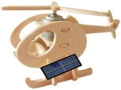 Bruine Gerardo's Toys 3d-puzzel Helikopter Solar 14 Cm 13-delig