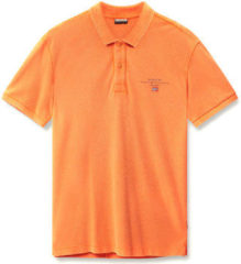 Oranje Polo Shirt Korte Mouw Napapijri N0YIJ5
