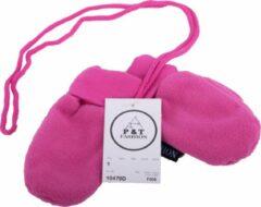P&T Wanten Baby met Touwtje - Micro Fleece - 0-1j - Fuchsia