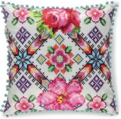 A Spark of HAPPINESS Gevuld kussen 1-48x48 polyester Happiness nr.8055 multi Maat: 48x48cm