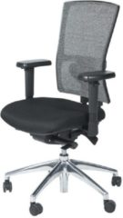 Zwarte Schaffenburg Bureaustoel - 400-NPR verchr. ond. zitting stof, rug wol zw/zw