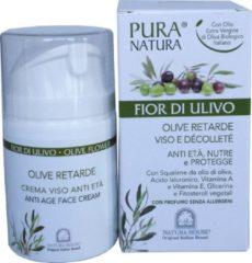 "Pura Natura Olive Flower Anti-aging Dag & Nachtcrème in ""Airless"" Doseerpompje 50 ml."