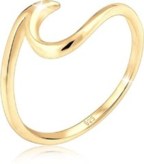Gouden Elli Ringen golven wave strand maritiem 925 zilver verguld