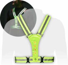 Groene No Limit Lifestyle Hardloop Verlichting Vest - Hardloopvest met Verlichting - Verlichting Hardlopen - Reflecterend Hardloopvest - Oplaadbaar - Sport LED Vest