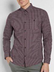 Bordeauxrode Tom Tailor Lange mouw Overhemd - 1024324 Bordeau (Maat: XXL)