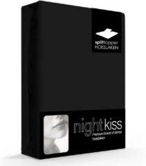 Zwarte Damai Topcover katoen 180 x 200 (99) black BI-inkeping enkel (tot 8 cm) Nightkiss