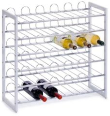 Zeller Present Zeller - Wine Rack, stackable, white, metal chromed
