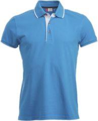 Blauwe Clique Heren Poloshirt Maat XXL