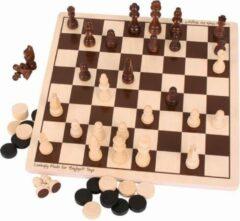 BIGJIGS Spel - Dammen & schaken set