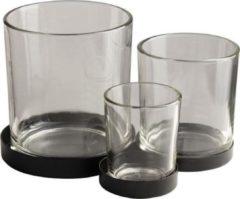 Transparante Gusta® Gusta Metalen houder met glaasjes 3pcs