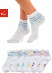Witte H.I.S korte sokken (7 paar)