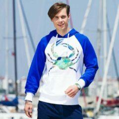 Blauwe BiggDesign Anemoss Groene Krab Mannen Sweatshirt , speciaal ontwerp , Maat S, Man T -shirt , 95% Katoen , 5% Elastaan