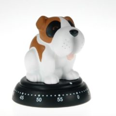 Bruine Bengt EK Design Mechanische Timer Dog Stained